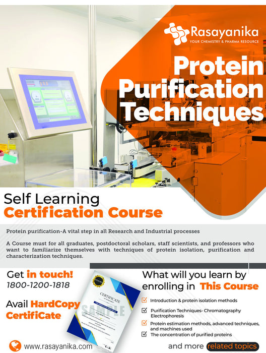 Protein Purification Techniques Online Certification Course