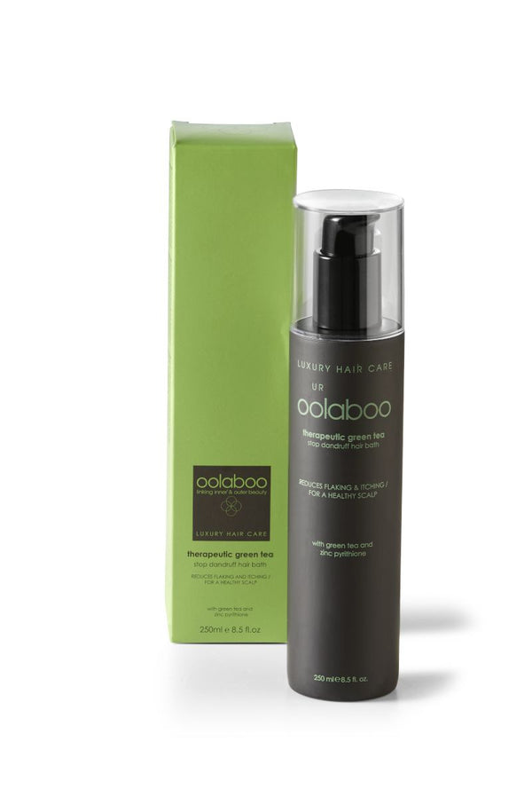 oolaboo therapeutic green tea stop dandruff hair bath 250 ml