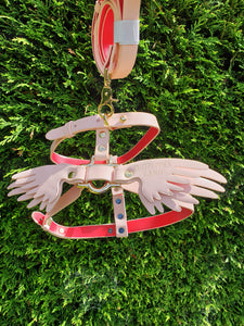 Pink Wings Collar Adjustable Harness by CutePuppiesLand™ - CutePuppiesLand