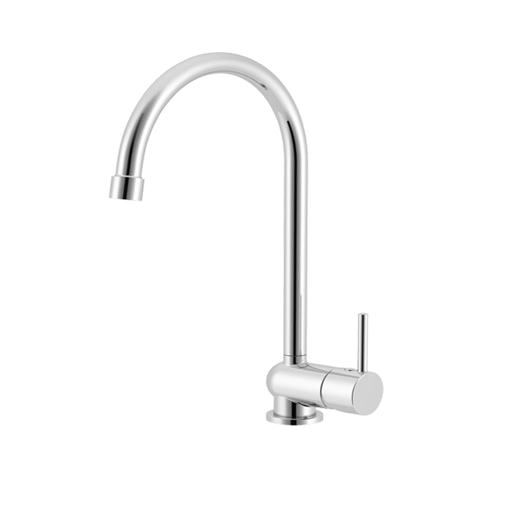 Malibup Gooseneck Sink Mixer - PLUMBCORP BATHROOM & KITCHEN CENTRE