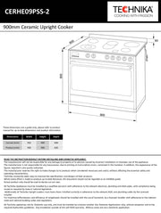 900mm stainless steel upright cooker