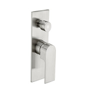 Vitra Shower Mixer With Diverter Brushed Nickel - PLUMBCORP BATHROOM & KITCHEN CENTRE