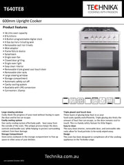 600mm stainless steel dual fuel upright cooker