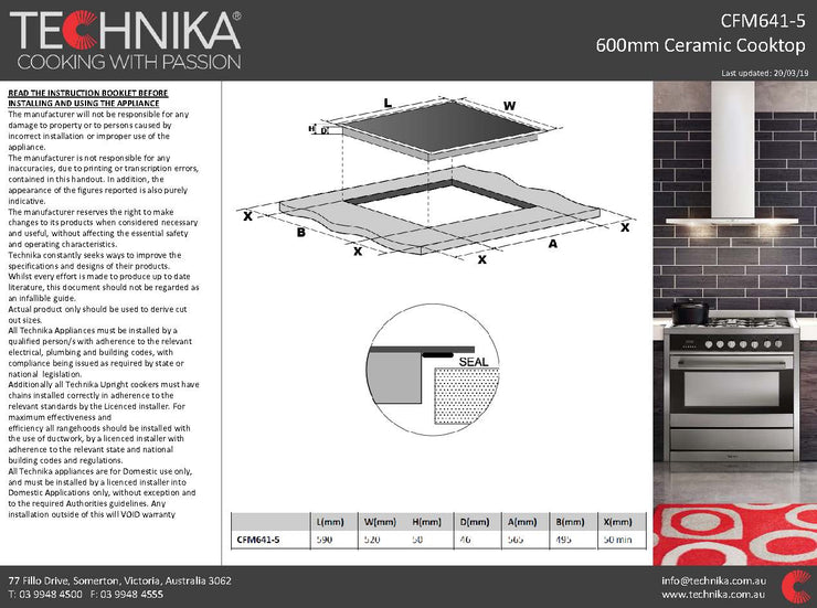 600mm ceramic cooktop