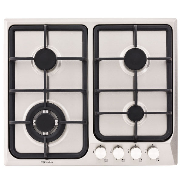 600mm stainless steel gas cooktop