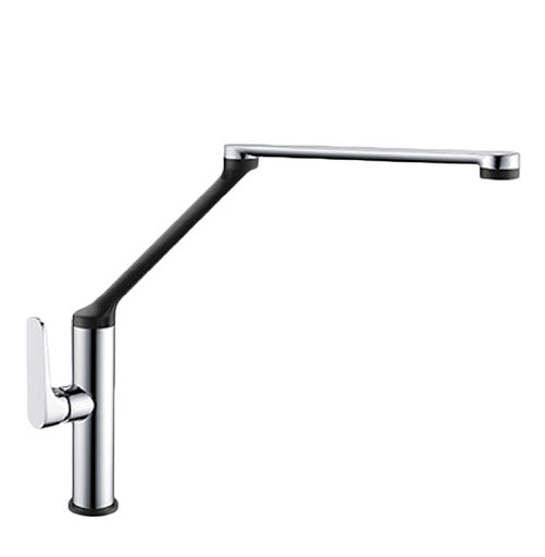 Excon 7 Sink Mixer in Black & Chrome - PLUMBCORP BATHROOM & KITCHEN CENTRE