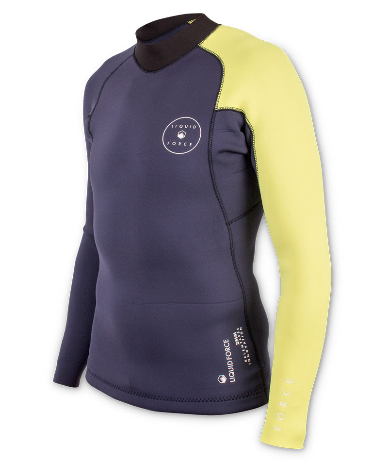 Eco Suit 2mm Men's Ride Top - Navy/Yellow
