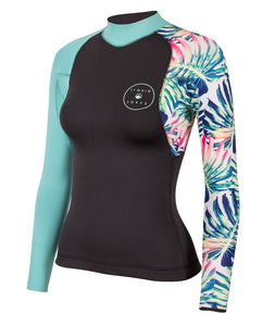 Eco Suit 2mm Women's Ride Top - Floral