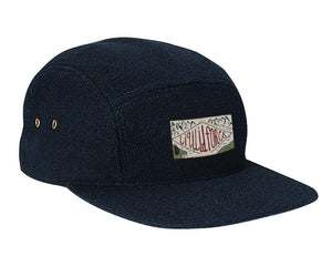 Cove Leather Strapback Navy Hat