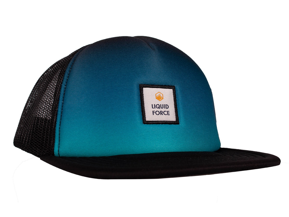 Faded Trucker Snapback Hat - Black