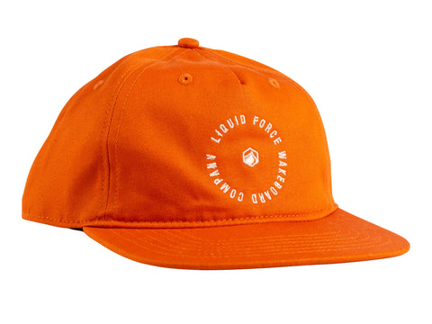 Radial Snapback Hat - Orange