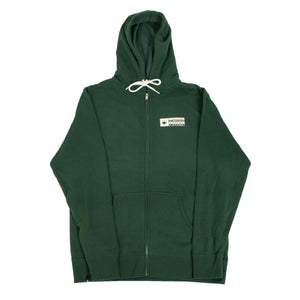 Boxed Zip Up - Alpine Green