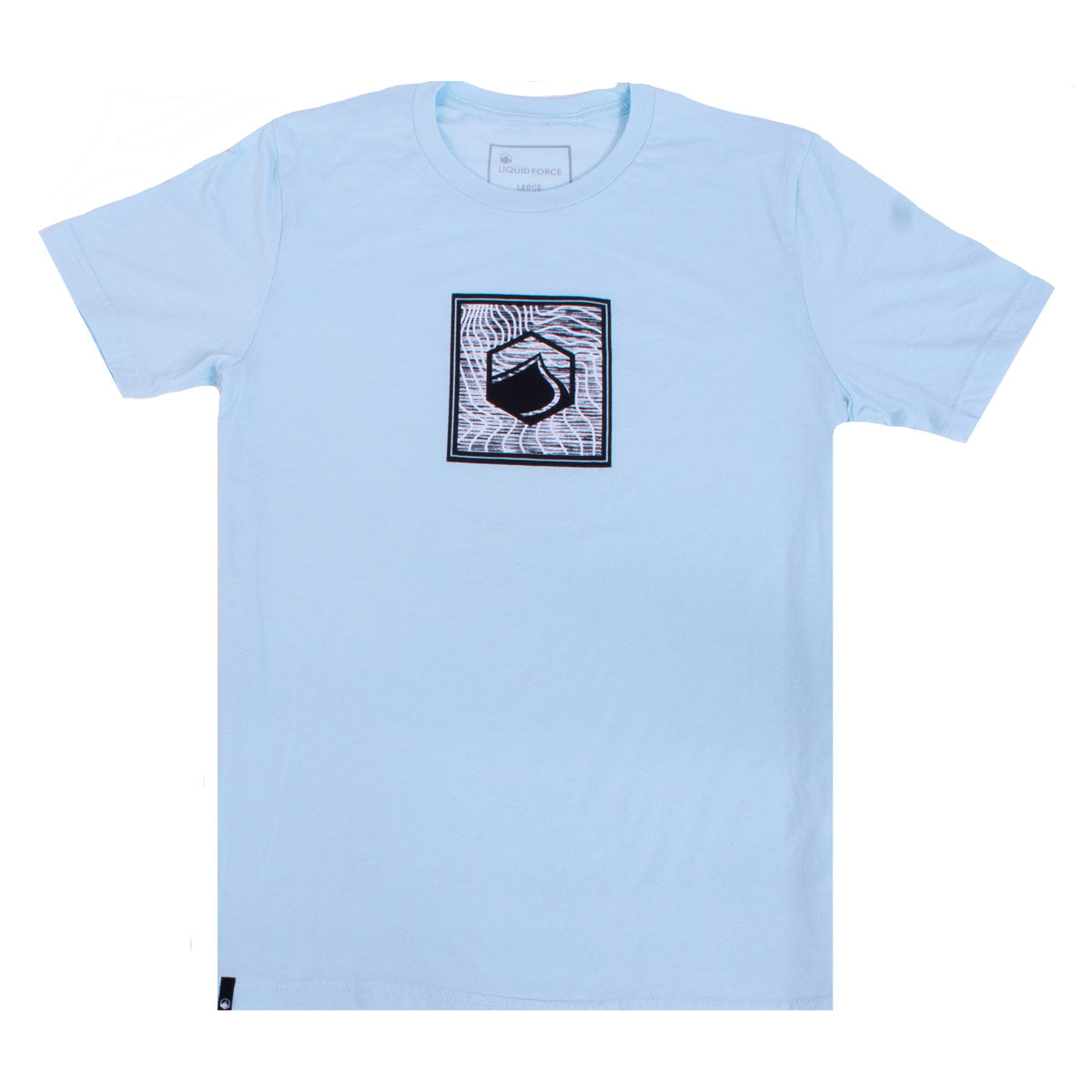 Glitch Tee - Heather Ice Blue
