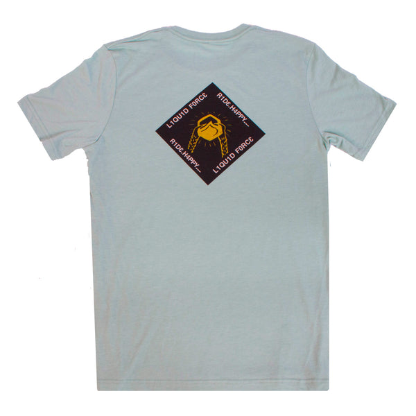 Ride Happy Tee - Heather Dusty Blue