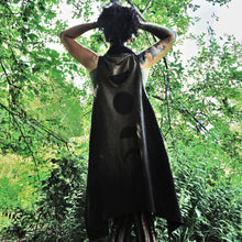 Load image into Gallery viewer, Moon Phases Long Flowing Vest Black Sleeveless - Wings of Sin