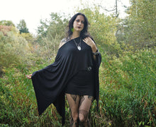 Load image into Gallery viewer, Black Batwing Edgy Poncho Capelet - Wings of Sin