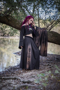 Triple Moon Long Sleeve Shrug Jacket Shawl Top - Wings of Sin