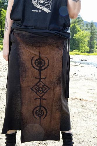 Tree of Life Cosmos Druid Panel Skirt As Above So Below - Wings of Sin