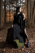 Load image into Gallery viewer, Black Double Side Slit Long Maxi Skirt - Wings of Sin
