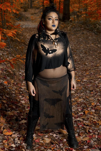 Eclipse of Moths Panel Skirt - Wings of Sin