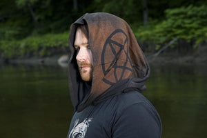 Pentacle Post Apocalyptic Cowl Hood Choose Your Own Design - Wings of Sin