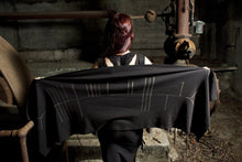 Load image into Gallery viewer, Raven Ogham Celtic Druid Shawl Wrap - Wings of Sin