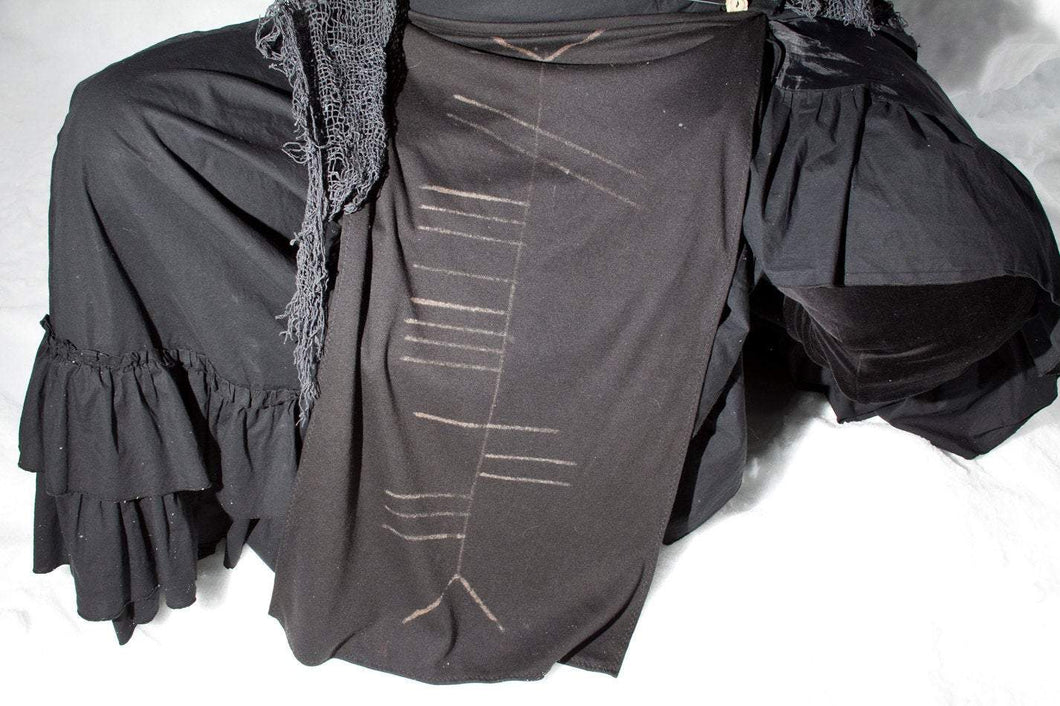 Tlachtga Druid Ogham Panel Skirt Loin Cloth Wrap - Wings of Sin