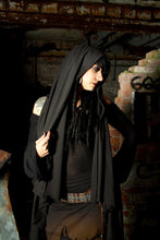 Load image into Gallery viewer, Flowing Hooded Shawl Wrap Vest Shirt - Wings of Sin