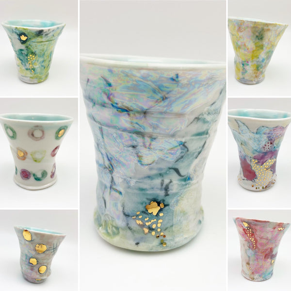 Cup - Ceramic with Luster Glazes