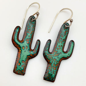Earrings - Enamel Original - Saguaro Cactus