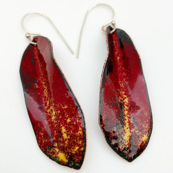 Earrings - Enamel Originals - Leaves