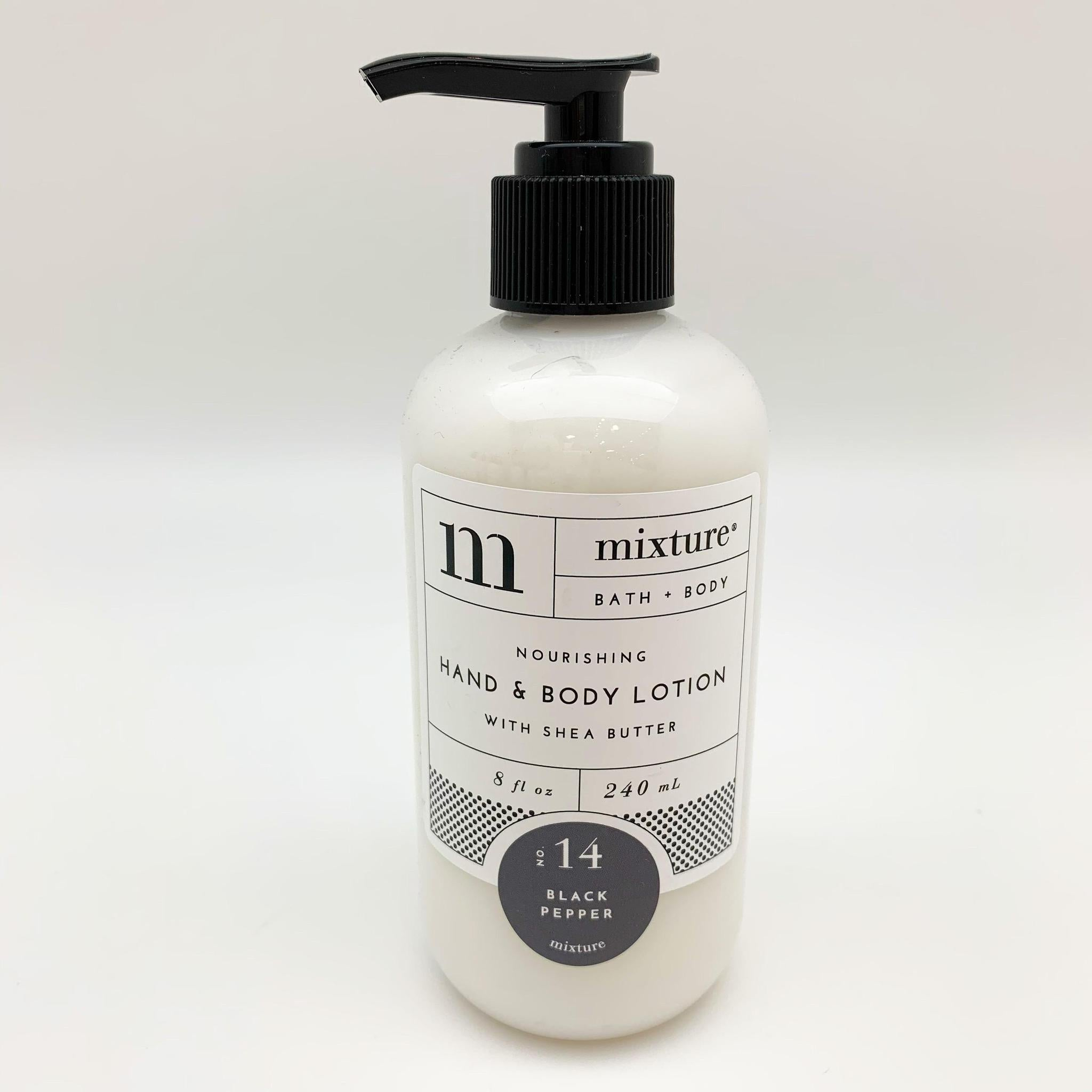 Hand Lotion - Black Pepper - 8 oz with Pump
