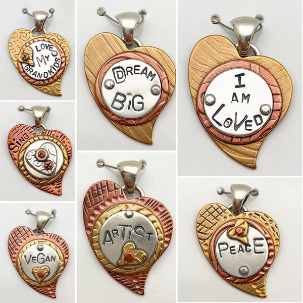 Pendant - Mixed Metal - Small Heart
