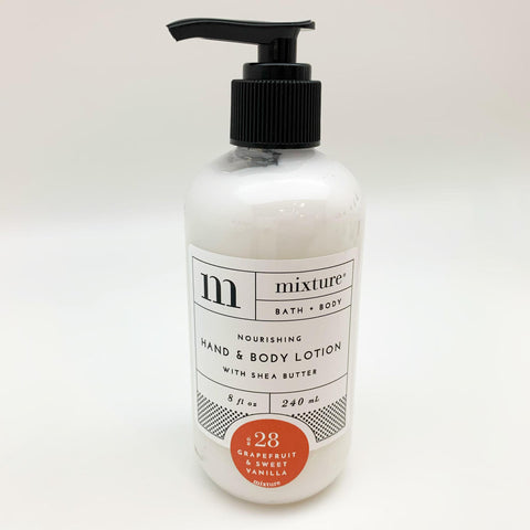Hand Lotion - Grapefruit & Sweet Vanilla: 8 oz with Pump