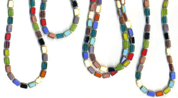 Necklace - 7-Way Furnace Glass Beads - 60""