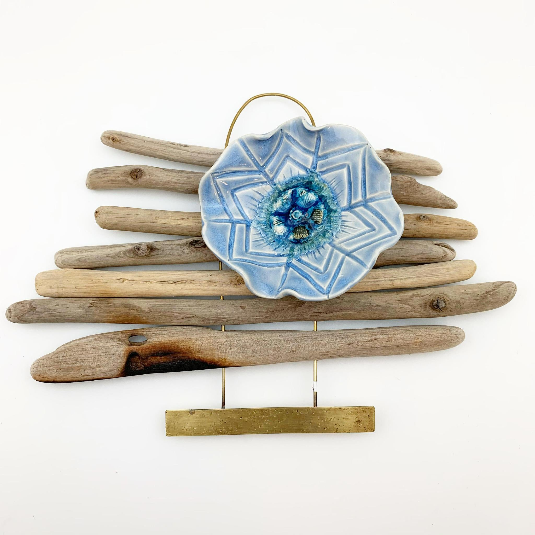 Wall Art - Driftwood and Ceramic Totem - Small