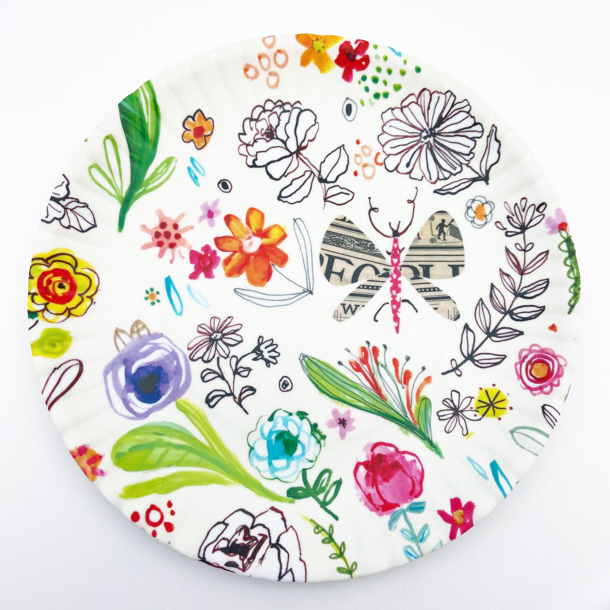 "Plate - Melamine ""Paper"" - Happy Nature"