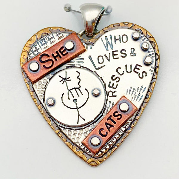 """Animal/Cat Rescue"" Pendant Collection - Hearts"