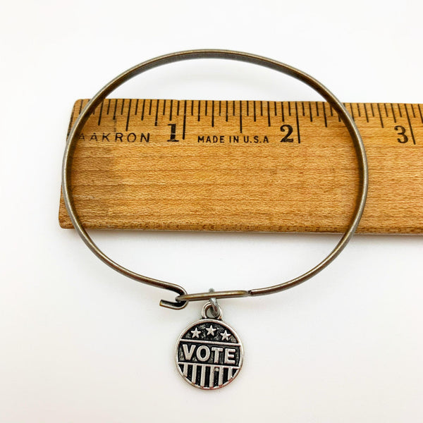Bracelet - VOTE Charm - Bangle with Clasp