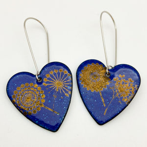 Earrings - Enamel Originals -  Organic Hearts