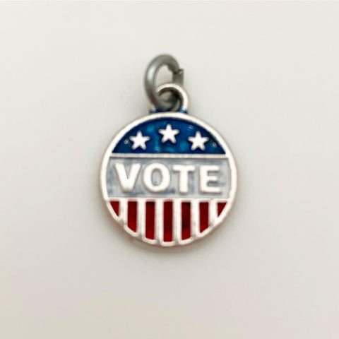 Charm - VOTE - Enamel 2 Sided