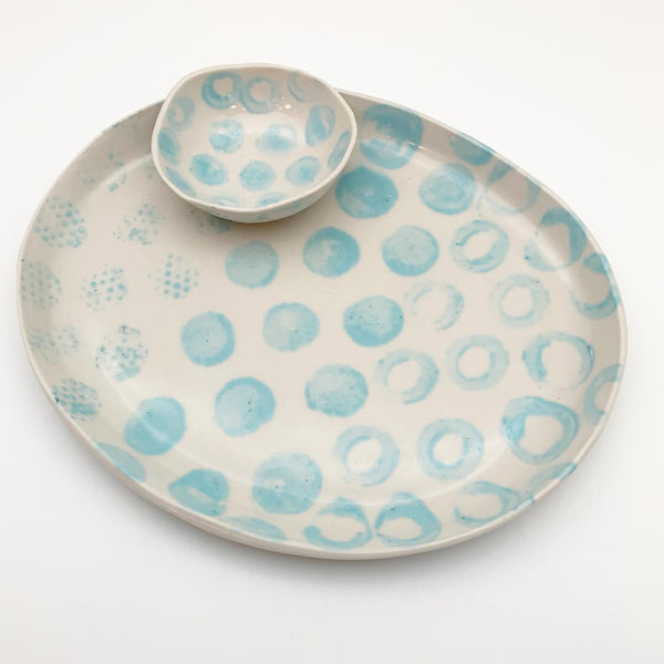 Tray and Bowl - Ceramic - Oval