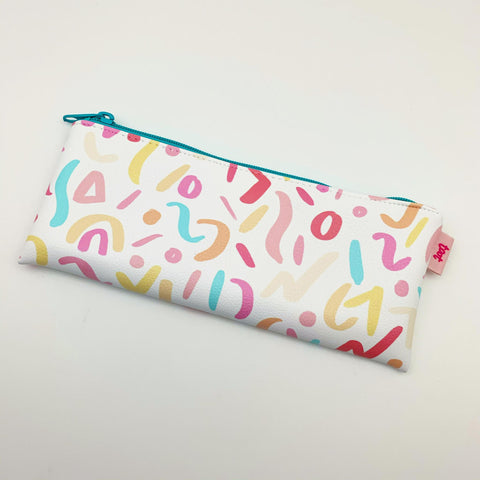 Zippered Pouch - Colorful Squiggles