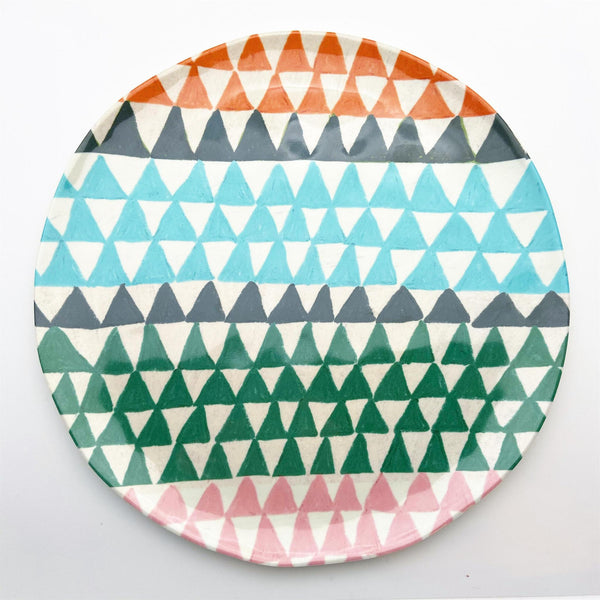 Plate - Melamine - Bold Graphic Patterns