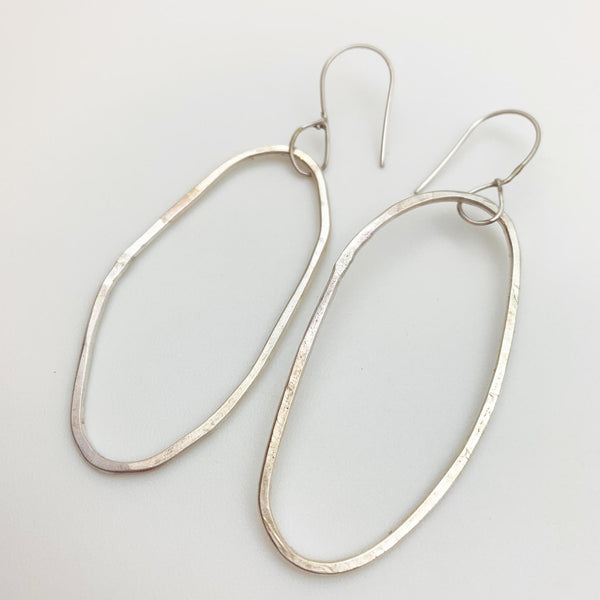 Earrings - Sterling Originals - Oval Hoop