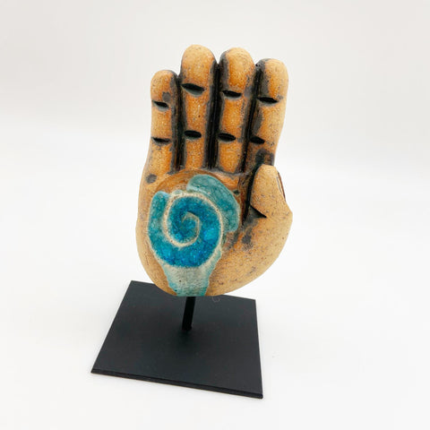 Sculpture - Hand on Stand - Ceramic