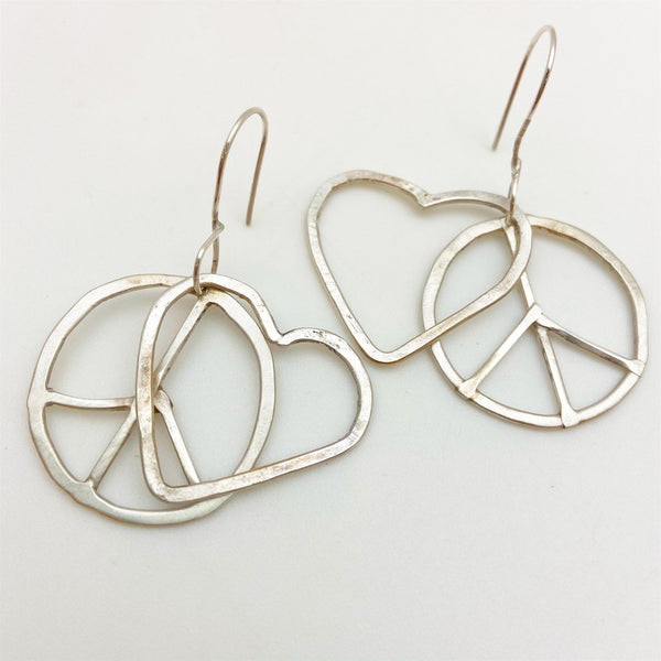 Earrings - Peace & Love - Sterling Originals