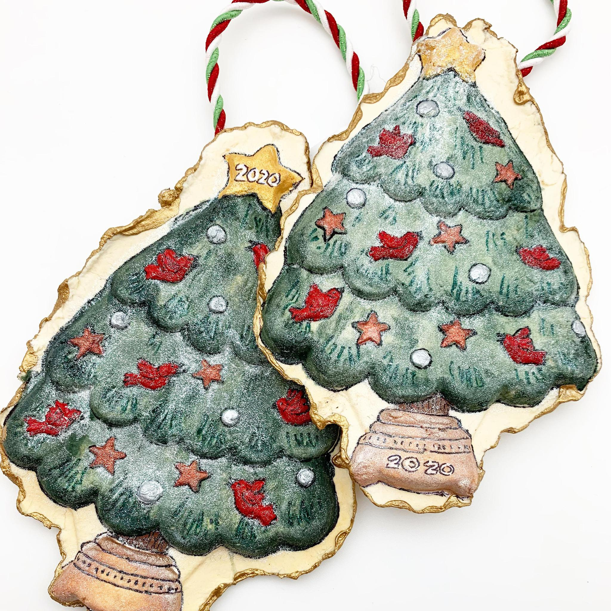 Handmade Paper Ornament - Christmas Tree