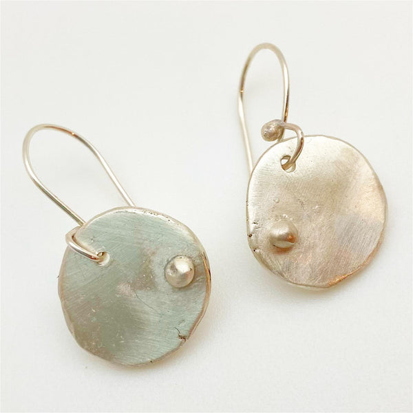 Earrings - Sterling Shapes and Dollops - Handmade