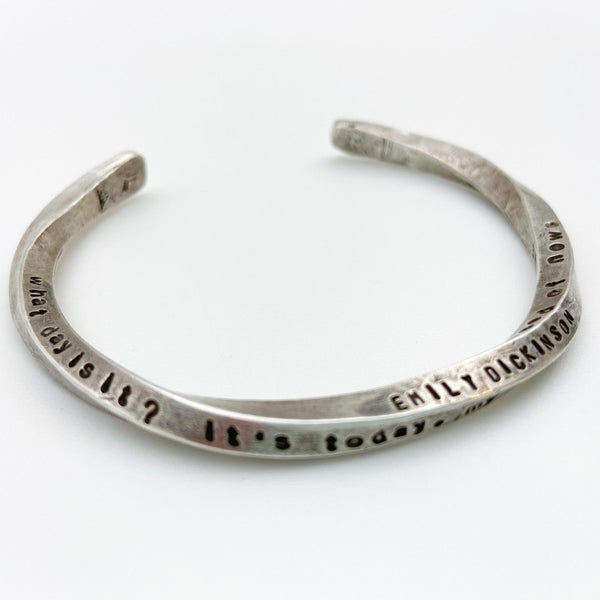 Bracelet - Sterling with Quotes - Twisted Cuff